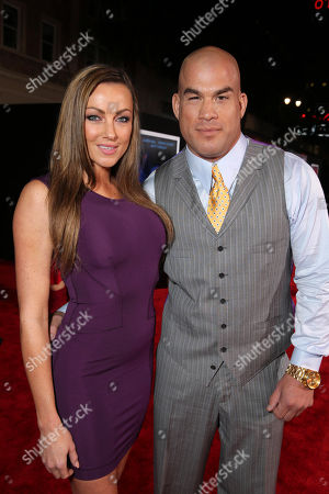"""Stock Image of Kristin Ortiz and Tito Ortiz attend the US Premiere of DreamWorks Pictures """"Need For Speed"""" at The TCL Chinese Theatre in Los Angeles, CA on . """"Need For Speed"""" marks an exciting return to the great car culture films of the 1960s and '70s, when the authenticity of the world brought a new level of intensity to the action on-screen. The film opens in theaters March 14, 2014"""
