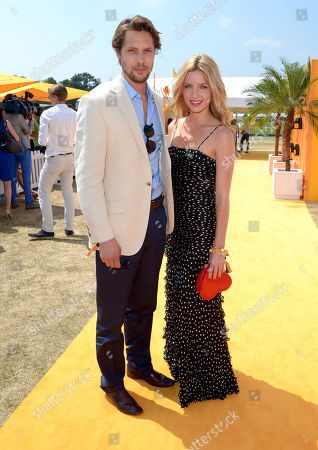 James Rousseau and Annabelle Wallis attends the Veuve Clicquot Gold Cup Polo Final at Cowdray Park, West Sussex, on
