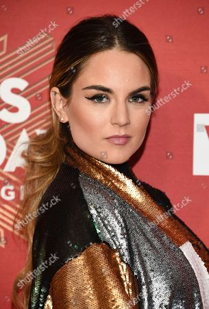 """Stock Image of Joanna """"JoJo"""" Levesque attends VH1 Divas Holiday: """"Unsilent Night"""" at Kings Theatre, in New York"""