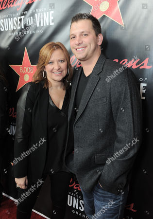 Caroline Manzo and Albie Manzo attend Walgreens 8000th Store Opening,, in Los Angeles