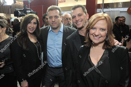 From left, Jacqueline Laurita, Chris Laurita, Albie Manzo and Caroline Manzo attend Walgreens 8000th Store Opening,, in Los Angeles