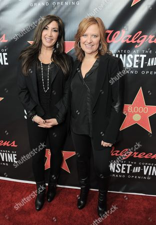 From left, Jacqueline Laurita and Caroline Manzo attend Walgreens 8000th Store Opening,, in Los Angeles