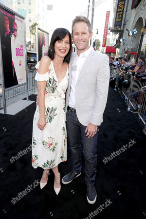 """Stock Picture of Perrey Reeves and Aaron Endress-Fox seen at Warner Bros. Present the Los Angeles Premiere of """"War Dogs"""" at TCL Chinese Theatre, in Los Angeles"""