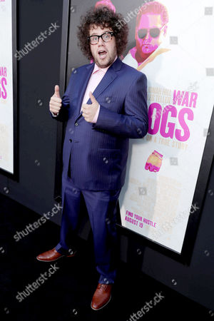 """Stock Image of Julian Sergi seen at Warner Bros. Present the Los Angeles Premiere of """"War Dogs"""" at TCL Chinese Theatre, in Los Angeles"""