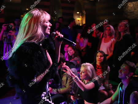 """Shoshana Bush performs at """"We Are Femme Fatale"""" Live Musical Production benefitting FreeArts.org at Acabar, in Los Angeles"""