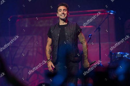 Jacob Hoggard of Hedley seen during We Day at the Air Canada Centre, in Toronto, Canada