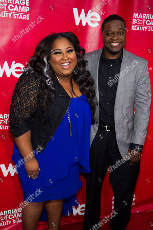 """Stock Picture of Tanisha Thomas and Clive Muir attend WE tv's """"Marriage Boot Camp: Reality Stars"""" party on in New York"""