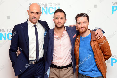 Mark Strong, Eran Creevy and James McAvoy are seen at Welcome to the punch Premier, on Tuesday, March, 5th, 2013 in London