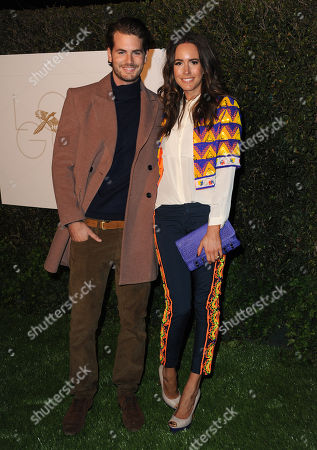 Louise Roe, right, and Josh Slack arrive at the World Gold Council event at Selma House at Chateau Marmont, in Los Angeles