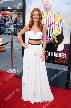 Challen Cates arrives at the World Premiere of 'A Million Ways To Die In The West', in Westwood, Calif