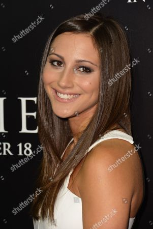 """Actress Zoe Belkin arrives at the world premiere of """"Carrie"""" at ArcLight Cinemas Hollywood, in Los Angeles"""