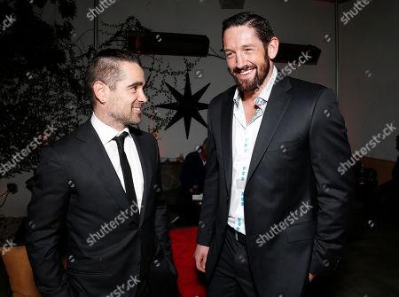 """Colin Farrell and Wade Barrett arrive at the world premiere of """"Dead Man Down"""" at the Archlight Hollywood on in Los Angeles"""