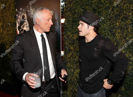 """Executive Producer Izek Shomof and Actor Cody Longo arrive at the world premiere of """"For the Love of Money"""" on in Los Angeles"""
