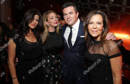 "EXCLUSIVE Robbie Brenner, President of Production for Relativity Media, Tessa Tooley, Tucker Tooley, President of Relativity Media and Producer Denise Di Novi attend the after party of the World Premiere of Relativity Studios' upcoming release ""The Best of Me"" held at Club Nokia in L.A. Live,, in Los Angeles"