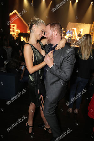 """Jessica Roffey and Ryan Kavanaugh, Chief Executive Officer of Relativity attend the after party of the World Premiere of Relativity Studios' upcoming release """"The Best of Me"""" held at Club Nokia in L.A. Live,, in Los Angeles"""