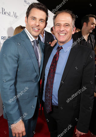 """James Marsden and Director Michael Hoffman attend the World Premiere of Relativity Studios' upcoming release """"The Best of Me"""" held at Regal Cinemas L.A. Live,, in Los Angeles"""