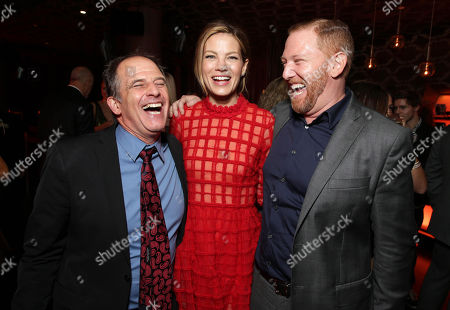 """EXCLUSIVE Director Michael Hoffman, Michelle Monaghan and Ryan Kavanaugh, Chief Executive Officer of Relativity attend the after party of the World Premiere of Relativity Studios' upcoming release """"The Best of Me"""" held at Club Nokia in L.A. Live,, in Los Angeles"""