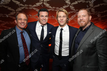 """EXCLUSIVE Director Michael Hoffman, Tucker Tooley, President of Relativity Media, Luke Bracey and Ryan Kavanaugh, Chief Executive Officer of Relativity attend the after party of the World Premiere of Relativity Studios' upcoming release """"The Best of Me"""" held at Club Nokia in L.A. Live,, in Los Angeles"""