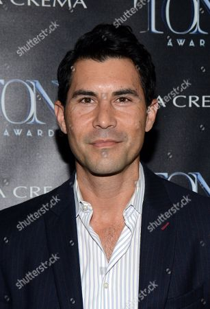 "Stock Image of David DeSantos attends the ""Broadway To Hollywood"" Cocktail Event - Arrivals held at Sunset Towers on in Los Angeles, California"