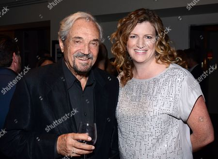 """Hal Linden and Alison Brower attend the """"Broadway To Hollywood"""" Cocktail Event - Inside held at Sunset Towers on in Los Angeles, California"""