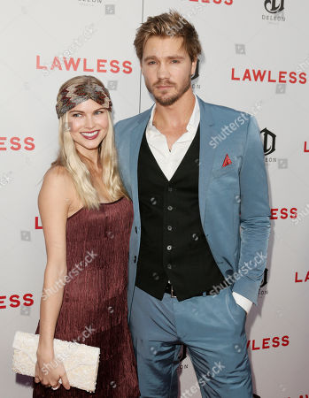 Kenzie Dalton and Chad Michael Murray attend the LA premiere of Lawless at Arclight Cinemas Hollywood, in Los Angeles