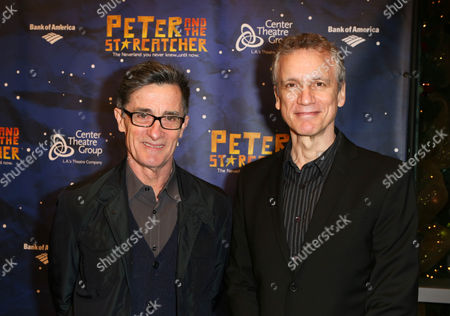"From left, Director Roger Rees and Playwright Rick Elice pose during the arrivals for the opening night performance of ""Peter and the Star Catcher"" at the Center Theatre Group/Ahmanson Theatre, in Los Angeles, Calif"