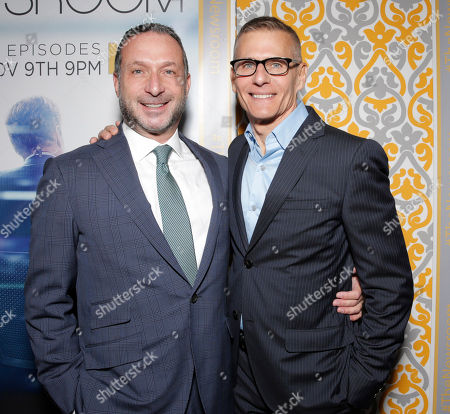 """Executive producer Alan Poul and President of HBO Programming Michael Lombardo attend """"The Newsroom"""" Season Three Premiere at the DGA, in Los Angeles"""