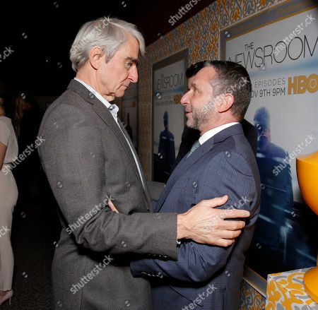 """Sam Waterston and Executive producer Alan Poul attend """"The Newsroom"""" Season Three Premiere at the DGA, in Los Angeles"""