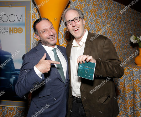 """Executive producer Alan Poul and Composer Jeff Beal attend """"The Newsroom"""" Season Three Premiere at the DGA, in Los Angeles"""