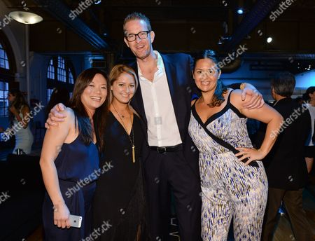 "Chefs Shirley Chung, left, Brooke Williamson, CJ Jacobson and Antonia Lofaso attend the ""Top Chef Duels"" Premiere Tasting Event, hosted by Chase Sapphire Preferred and Bravo, at the Altman Building, on in New York"