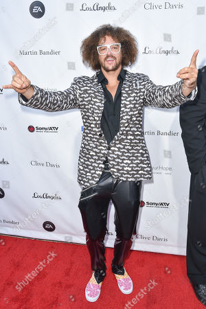 Stefan Kendal Gordy (Redfoo) arrives at the 11th annual Songs Of Hope benefit, in Los Angeles