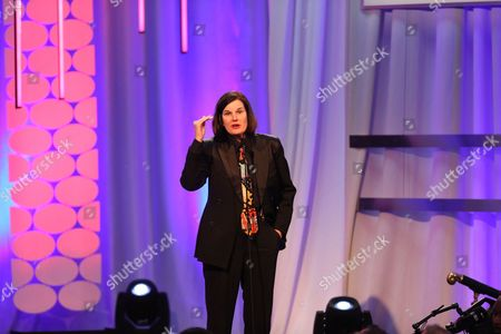 Paula Poundstone speaks at the 15th Annual Movies for Grownups Awards at the Beverly Wilshire Hotel, in Beverly Hills, Calif