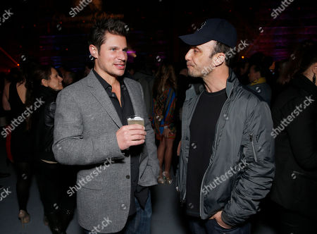 Nick Lachey and Larry Rudolph attend the 16th Annual Friends 'N' Family Pre-Grammy Party, on Friday, February, 8, 2013 in Los Angeles