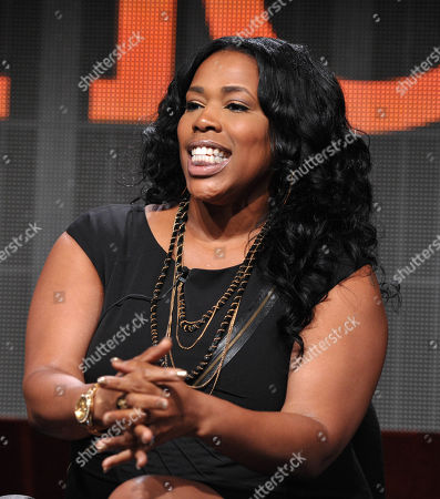"""Nicci Gilbert appears onstage during TVOne's TCA panel for """"R&B Divas"""" at the Beverly Hilton hotel, in Beverly Hills, Calif"""