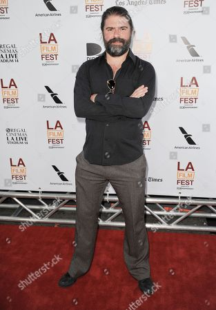 """Sebastian Cordero arrives at the Los Angeles Film Festival's premiere of """"I'm So Excited"""" at the Regal Cinemas at LA LIVE on in Los Angeles"""