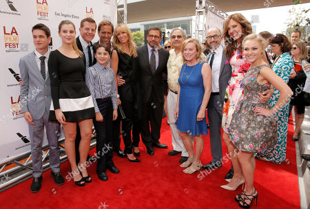 Producer Tom Rice, actors Liam James, Zoe Levin, producer Kevin J. Walsh, actor River Alexander, Nat Faxon, actors Toni Collette, Steve Carell, Fox Searchlight Pictures Presidents Steve Gilula, Nancy Utley, Jim Rash, Allison Janney and AnnaSophia Robb attend the premiere of Fox Searchlight Pictures' 'The Way, Way Back' after party at L.A. Live Event Deck on in Los Angeles
