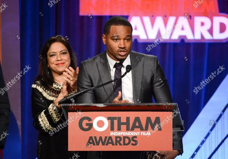 "The ""Bingham Ray Breakthrough Director"" award recipient Ryan Coogler speaks at the 23rd Annual Gotham Independent Film Awards at Cipriani's Wall Street on in New York"