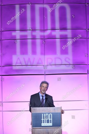 """William Goldenberg, A.C.E. accepts his award fro """"Outstanding Editing Feature Film"""" for """"ARGO"""" during the 2013 Hollywood Post Alliance Awards Ceremony held at the Skirball Cultural Center on in Los Angeles, Calif"""