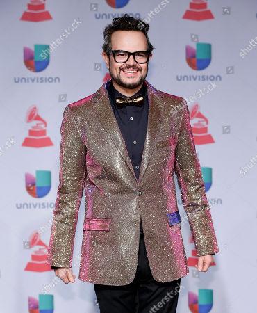 Aleks Syntek poses backstage at the 14th Annual Latin Grammy Awards at the Mandalay Bay Hotel and Casino, in Las Vegas