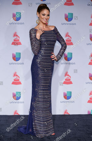 Blanca Soto poses backstage at the 14th Annual Latin Grammy Awards at the Mandalay Bay Hotel and Casino, in Las Vegas