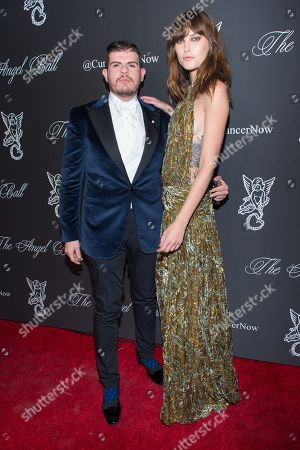 L-R) Eli Mizrahi and Catherine McNeil attend the 2014 Angel Ball, hosted by Gabrielle's Angel Foundation, at Cipriani Wall Street, in New York