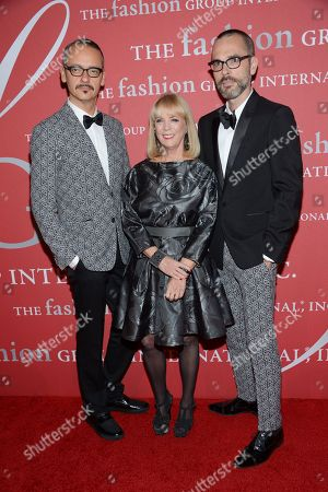 """Viktor Horsting, Carol Hamilton and Rolf Snoeren attend Fashion Group International's 31st Annual """"Night of Stars"""" at Cipriani Wall Street on in New York"""