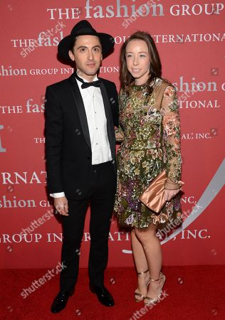 """Eddie Borgo and Rickie De Sole attend Fashion Group International's 31st Annual """"Night of Stars"""" at Cipriani Wall Street on in New York"""