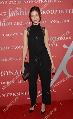 """Stock Image of Kati Nescher attends Fashion Group International's 31st Annual """"Night of Stars"""" at Cipriani Wall Street on in New York"""