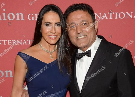 """Designer Elie Tahari, right, and wife JoAnne Blessinger attend Fashion Group International's 31st Annual """"Night of Stars"""" at Cipriani Wall Street on in New York"""