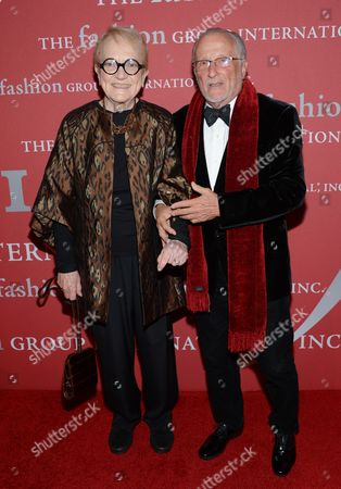 "Stan Herman and Mary Lou Luther attend Fashion Group International's 31st Annual ""Night of Stars"" at Cipriani Wall Street on in New York"