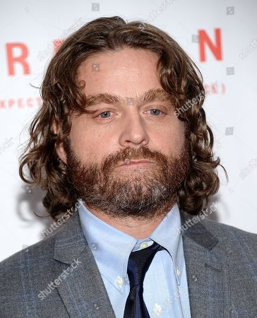 """Stock Photo of Actor Zach Galifanakis attends the """"Birdman or The Unexpected Virtue of Ignorance"""" closing night gala screening during the 52nd Annual New York Film Festival at Alice Tully Hall, in New York"""