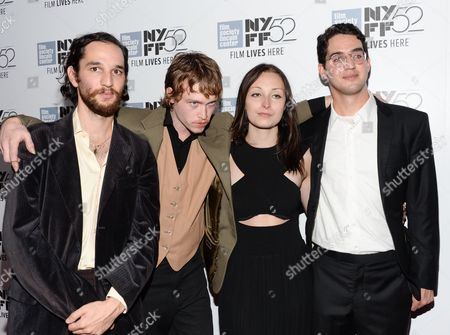"Co-director Joshua Safdie, actor Caleb Landry Jones, actress Arielle Holmes and co-director Ben Safdie attend the ""Heaven Know What"" screening during the 52nd Annual New York Film Festival at Alice Tully Hall, in New York"