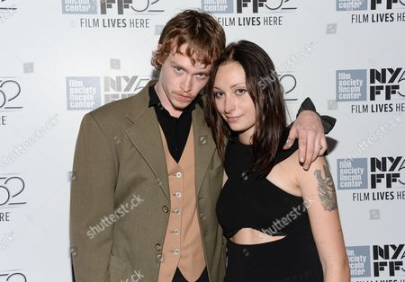 "Actor Caleb Landry Jones and Arielle Holmes, right, attend the ""Heaven Know What"" screening during the 52nd Annual New York Film Festival at Alice Tully Hall, in New York"