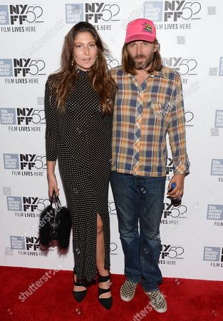 "Actress Stella Schnabel, left, and musician Evan Dando attend the ""Heaven Know What"" screening during the 52nd Annual New York Film Festival at Alice Tully Hall, in New York"